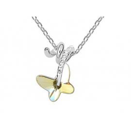 Swarovski kristályos nyakék csavart kialakítású pillangó medállal.