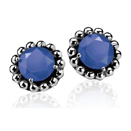 Zinzi ezüst fülbevaló kék kővel.