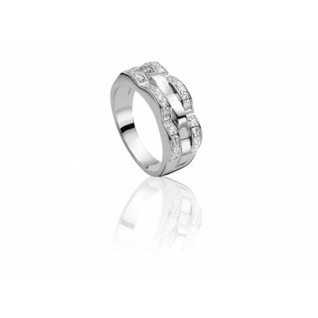 ZINZI Ezüst gyűrű, a szélén kirakva kristályokkal.  Kifutó termék, utolsó darabok!