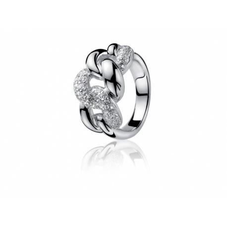 ZINZI első osztályú cirkóniával kirakott ezüst gyűrű.  Kifutó termék, utolsó darabok!