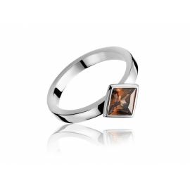 ZINZI ezüst gyűrű, négyzet alakú kristállyal.  Kifutó termék, utolsó darabok!