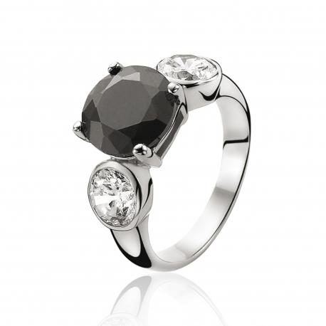 ZINZI ezüst gyűrű cirkóniával