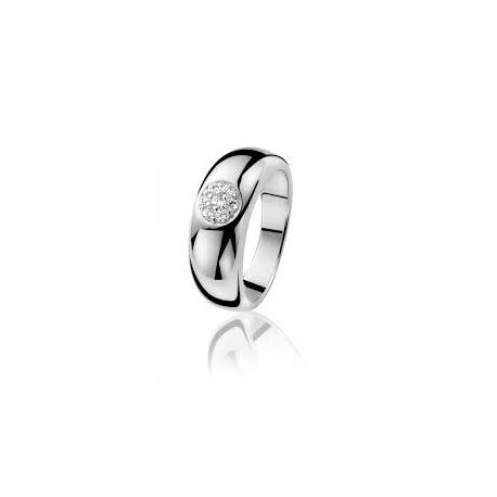 Zinzi ezüst gyűrű a közepén 7 kis cirkóniával