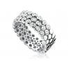 Zinzi 3 soros ezüst gyűrű, felül cirkóniákkal