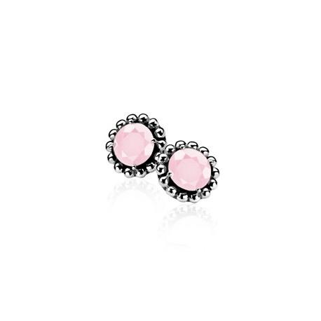 Zinzi ezüst fübevaló rózsaszín kővel