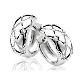 Zinzi ezüst fülbevaló fehér cirkóniákkal