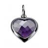 Zinzi ezüst medál, nagy lila szív