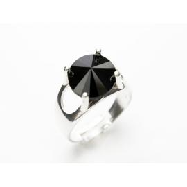 Ezüst állíthatű méretű Swarovski kristályos gyűrű.